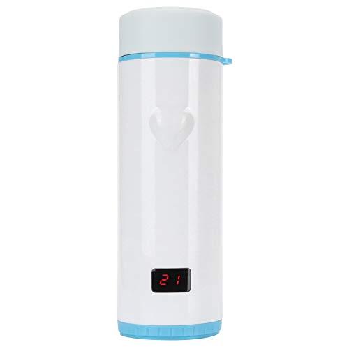 Fockety Taza de vacío de Acero Inoxidable, 360 ml, portátil, Pantalla de Temperatura de 3 Colores, Taza de Viaje, Tapa hermética, Aislamiento, Tazas de café para Oficina en casa, (Azul)