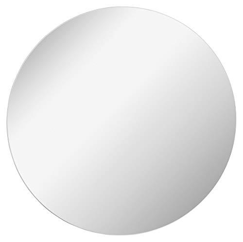FACKELMANN Spiegel rund Ø 60 cm Mirrors/Wandspiegel mit Befestigung/Maße (B x H x T): ca. 60 x 60 x 1,5 cm/hochwertiger Badspiegel/moderner Badezimmerspiegel/Durchmesser 60 cm