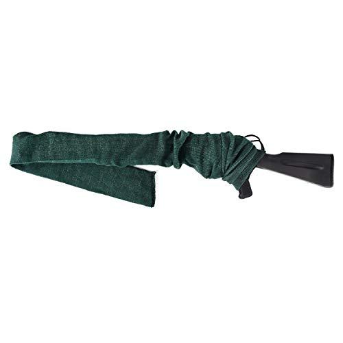 GUGULUZA Funda Tipo Calcetín para Rifle o Escopeta,136 cm Funda Tejida Tratada con Aceite de Silicona Rifle Sock (Verde Militar)