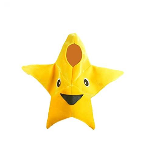 Little Starfish traje Dibujos animados de estrella de estrella de mar Traje de la etapa de los niños Ropa de estrellas de mar para niños Disfraz de Halloween 1 Set Halloween Atmosphere