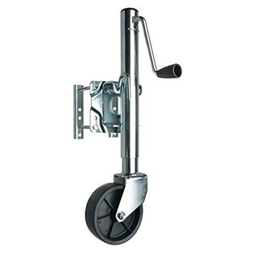 REESE Towpower 74410 Trailer Jack, Heavy-Duty Swivel Mount, 6-Inch Wheel, Chrome