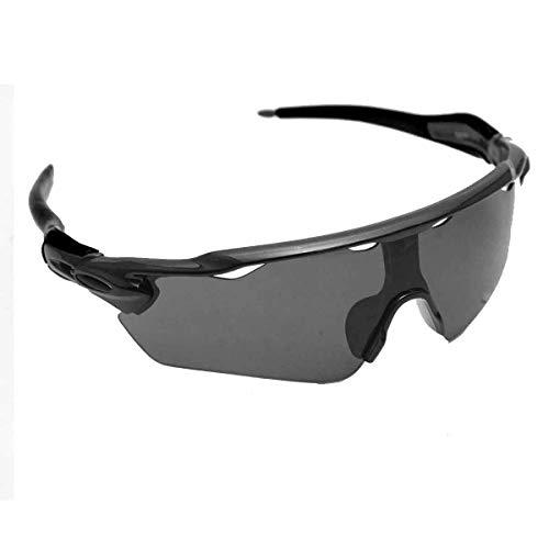 Óculos Esportivo Sol Bike Ciclismo Proteção Uv Sol (Preto)
