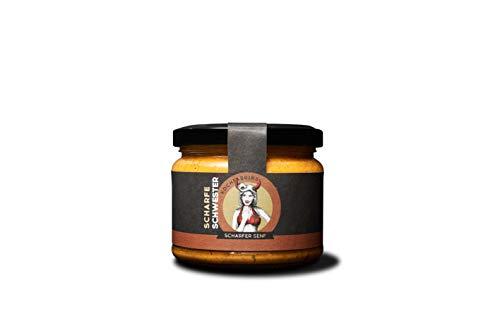 KOCHfabrik Scharfe Schwester 250ml | feurig-scharfer Senf mit Chili | vegan & glutenfrei | ohne Konservierungsstoffe & Geschmacksverstärker | 1x Senf im Glas