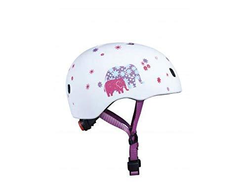 Micro Mobility - Casque Enfant Éléphant - Coque de Protection Confort et sécurité - pour Trottinette Rollers et Skate - Clip Fermeture magnétique - Lumière intégrée (S)