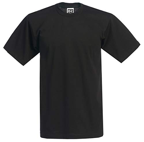 DREAM USA Men's Heavyweight Short Sleeve T-Shirt, Black, Medium
