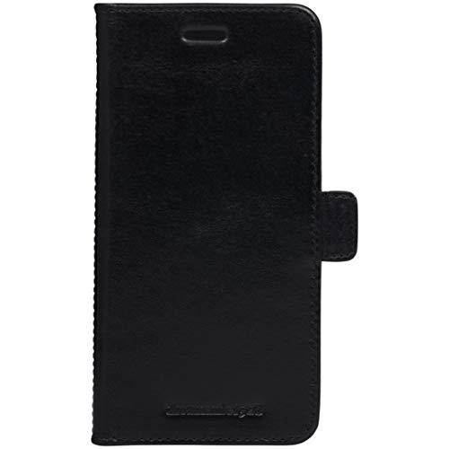 dbramante1928 - Lynge Hülle für iPhone 8/7/6 Plus - Klapphülle aus robustem, hochwertigem Leder - Mit Kartenfach - Brieftasche sowie Schutzhülle - Schwarz