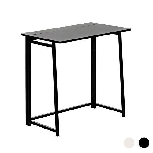 Harbour Housewares Mesa de Escritorio Plegable - Ideal para el Ordenador - Madera - Estructura y Tablero en Negro