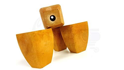 Knightsbrandnu2u 4 patas para muebles de madera maciza de repuesto para sillas de asientos, sofás, taburetes - pretaladrado - TSP2031S (roble)