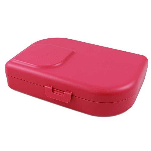ajaa! Bio BROTBOX - Lunch-Box aus nachwachsenden Rohstoffen ohne Melamin, ohne Weichmacher wie BPA, plastikfrei (pink)