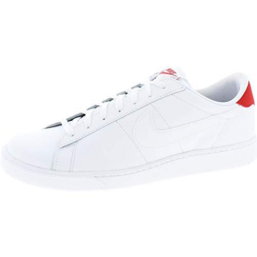 Nike Men's Tennis Classic CS Sneakers White University Red Size 10