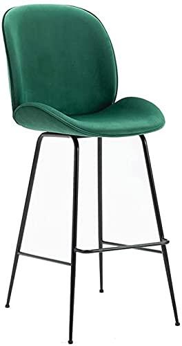 WWJ Bar Stool Modern Minimalist high stools Home Back high Stool Fashion Chair Mobile Phone bar Chair Dining Chair (Color : Green)