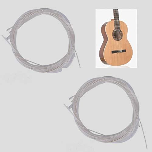 BIGDOM Kit de 2 Juegos de Cuerdas Guitarra Clásica Española, 12 Cuerdas guitarra. 2 Paquetes de Cuerdas de Nylon para Guitarra Flamenca, Clásica o Española.