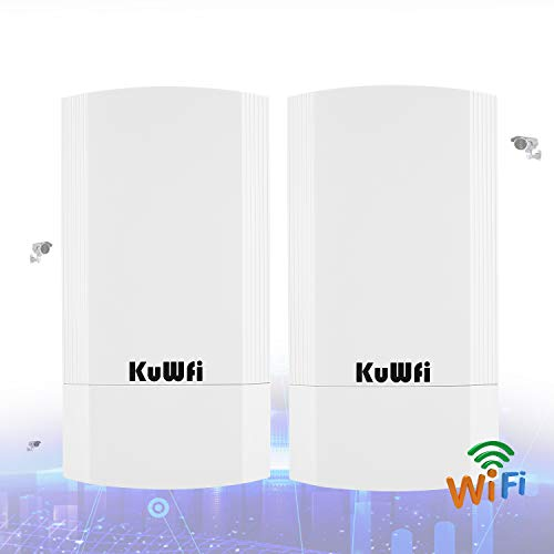 KuWFi 2-Pack Wireless Long Range WiFi Bridge 5.8G 900Mbps Point