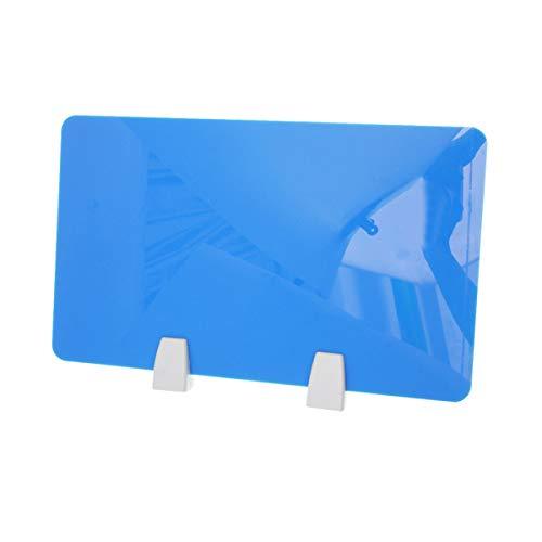Toyvian - Separador de mesa de escritorio de acrílico con abrazadera para oficina (azul)