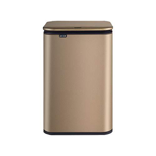 Trash Can Smart Induktion Mülleimer Haushalt Wohnzimmer mit Abdeckung kreative automatische Sterilisation Toilette Bad Edelstahl Küchenrohr