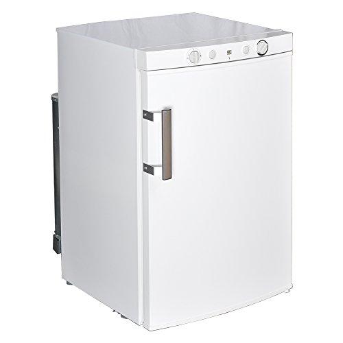 Smad Propane Refrigerator Off Grid Compact Refrigerator with Freezer, 3.5 Cu.Ft, White