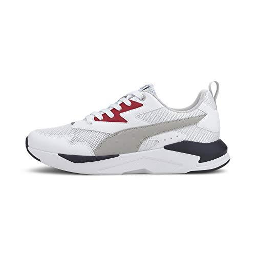 PUMA Unisex X-Ray Lite Sneaker, White-Gray Violet-High Risk Red New Navy, 43 EU