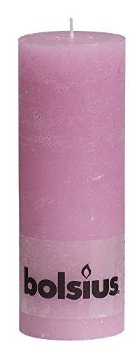 Rustikal 103868000340Stumpenkerze, Paraffin Wax, Pink