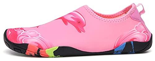 Zapatos de playa Zapatos de agua Zapatos suaves para hombres Mujeres y niños antideslizantes resistentes al corte y calcetines de agua transpirables zapatos de playa ( Color : Pink , Size : 40EU )
