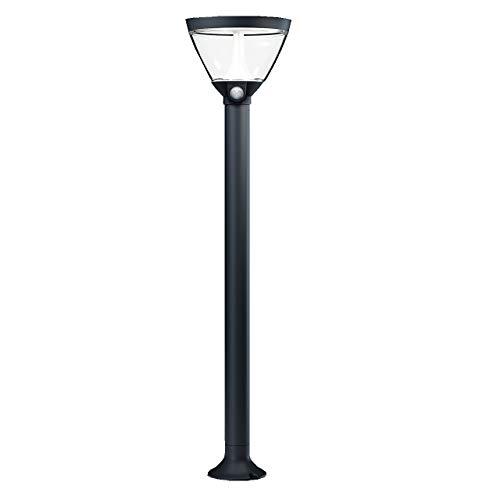 OSRAM - Borne / Lanterne extérieure Solaire + secteur LED ENDURA STYLE 90cm - Détecteur de présence - Gris Anthracite - Garantie 5 ans