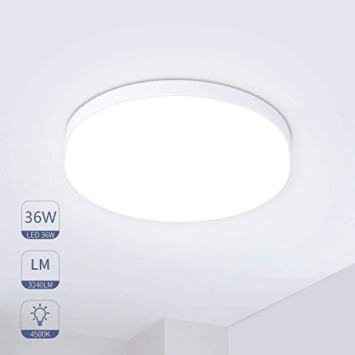 Hosome Plafon Led de Techo 36W Plafon Techo Led Cocina Luz Natural Luces LED Habitación Luz para Cocina, Sala de Estar, Dormitorio, Pasillo,etc.