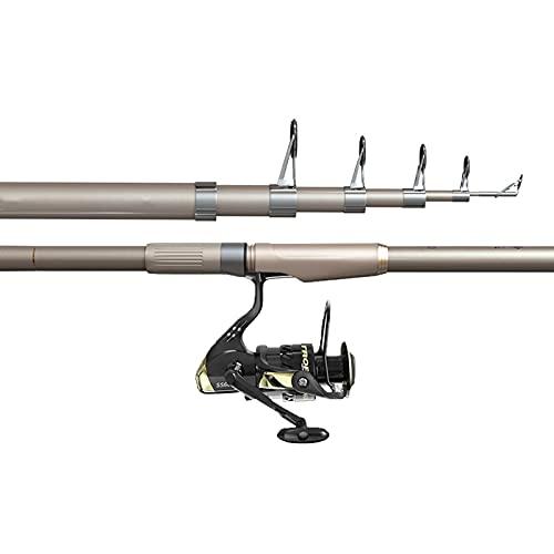 QILIN Mini Kit Combinado De CañA De Pescar TelescóPica PortáTil, 2.1M / 2.4M / 2.7M / 3M / 3.6M Caña De Fibra De Vidrio Duradera, Juego De Equipo De Pesca para Todas Las Aguas