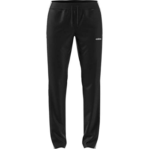 adidas womens Essentials Tricot Open Hem Full Length Training Joggers Sweatpants, Black/White, X-Large