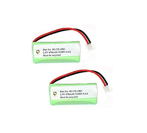 SPS Brand 2.4V 650mAh Replacement Battery for VTech EMBARQ eGO (2 Pack)