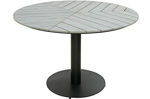 Kynast NONWOOD Metall Gartentisch rund 110 cm Grau/Schwarz