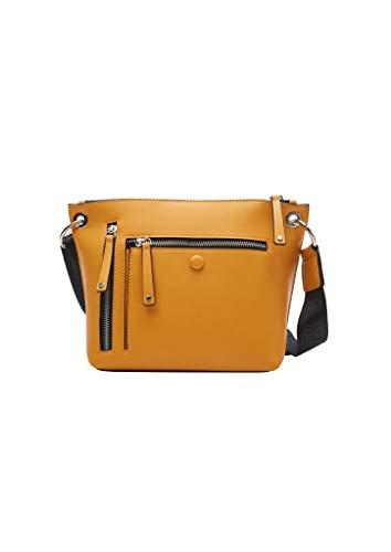 s.Oliver Damen Shoulder Bag mit Zippern yellow 1