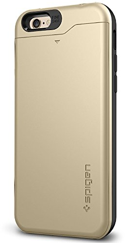 iPhone 6 ケース, Spigen®  IC カード 収納可能 スリム・アーマーCS *Apple iPhone 4.7* (2014) The New iPhone アイフォン6 カバー **カード スライダー** (国内正規品) (シャンパン・ゴールド  【SGP10967】)