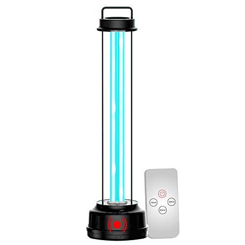 1x Lampada Doppia Tecnologia Raggi UV-C Ozono 38W Telecomando incluso Sensore Radar Movimento Germicida Sanificazione Ambienti da Batteri Acari Virus