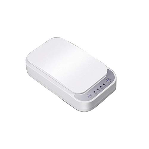 Metermall Popular for Plastic Mobile Phone Mask Watch Disinfection Box Rectangular Shaped Compact Size Portable white