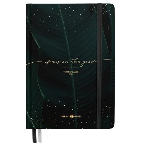 Kalender 2022 A5 [Tropical] Lebenskompass® - Schöner Terminplaner & Wochenplaner - Hardcover Taschenkalender 2022