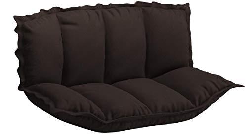 アイリスプラザソファ座椅子2人掛けフロアソファソファベッドローソファブラウンさらさら幅約105-150㎝CG-SF061FR-2-FAB