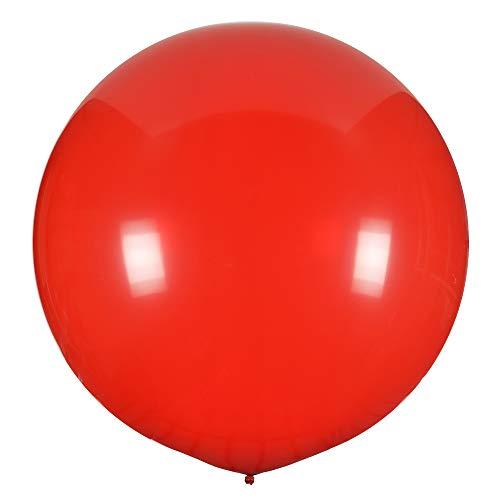 Simplydeko XXL Ballon 100cm | Riesenballon | Riesenluftballon | XXL Luftballon | Hochzeitsballon | Große Luftballons | Rot