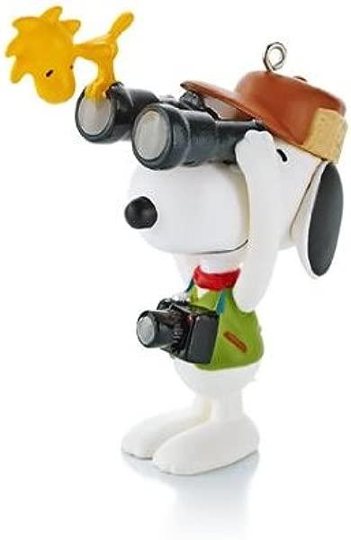 Hallmark Keepsake Ornament Bird Watcher 16th In Spotlight On Snoopy Series 2013