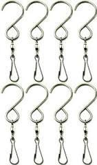 Easest Swivel Wind Chime Spinner Hook 8 Pack Stainless Steel Swivel Clips Hangers for Hanging Wind Chimes Mobile Spinners String Lights Crystal Twisters 360 Rotating Party Supply Garden Lights Hooks