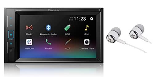 "Pioneer 6.2"" VGA Touchscreen WebLink Double DIN, Bluetooth USB MP3 Aux Input, in-Dash Siri Eyes Free & Google VR, Multi-Color Illumination Digital Media Receiver/Free Alphasonik Earbuds"