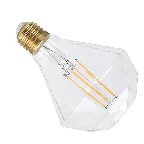 Lampadina, E27 Vintage Illuminazione da interni in vetro per ristorante per lampada da tavolo Lampada da parete, Lampadina a specchio per la casa per lampada decorativa Lampadario(trasparente, rosa)