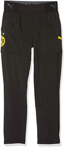 PUMA Kinder BVB Stadium Pro Pants Jr Jogginghose, Black, 152
