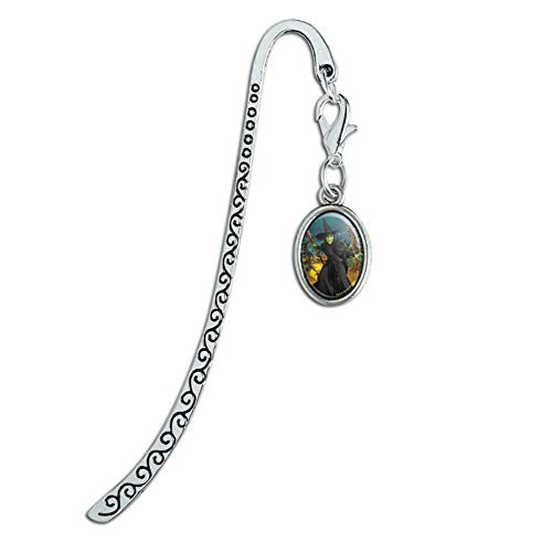 Wizard of Oz Wicked Witch Character Metal Bookmark Page Marker with Oval Charm