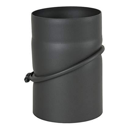 AdoroSol Vertriebs GmbH Ofenrohr, Rauchrohr, Bogen, verstellbar, drehbar, 0° - 45°, ø 150, grau, gussgrau