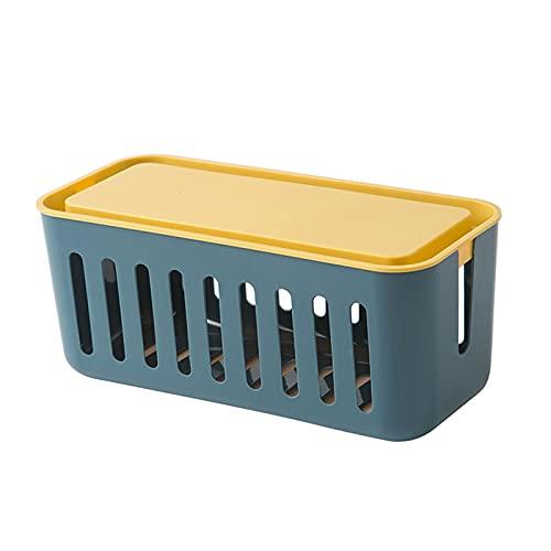 Caja de administración de cables huecos multifacética, caja de organizador de cordón de material de alta capacidad, para escritorio Protector de sobrecarga TV Informática para el hogar Entretenimiento