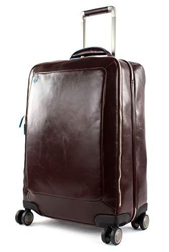 Piquadro Trolley cabin 4 ruote SLIM,porta abiti in pelle - Bagagli- Borsa a tracolla Unisex - Adulto, Mogano, - BV5004B2/MO