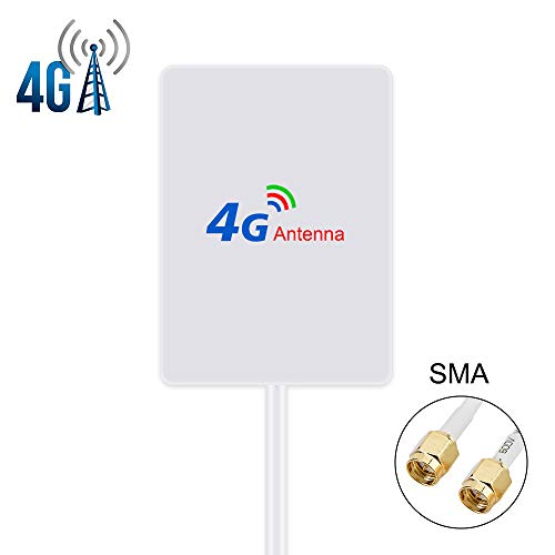 4G LTE Antenne 15dBi SMA Stecker(Male) Dual Mimo SMA Antenna Booster mit 2m Kabel für 4G LTE WiFi Router Mobiles Hotspots Huawei B525, B715, Vodafone, Telekom Speedport LTE