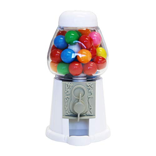ModParty White Gumball Machine Kids Party Favors Set of 6 Bubble Gum Mini Candy Dispenser GUMBALLS NOT INCLUDED