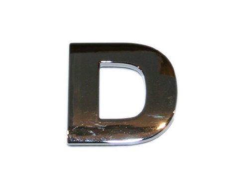 3D Chrombuchstabe D