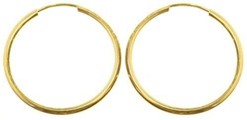 9 Karat (375) Gold Damen - Paar Creolen - 20mm