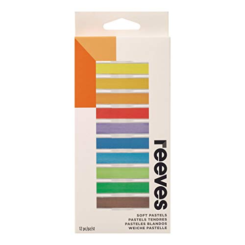 Reeves Pastel Seco 12 Cores, Colorido